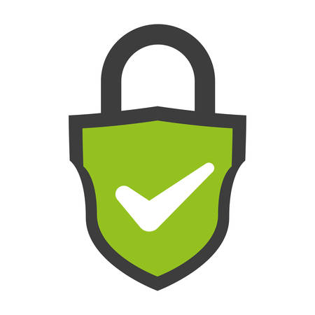 shield with safe secure padlock vector illustration design 일러스트