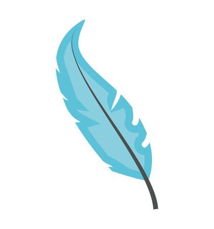 feather bird decoration isolated icon vector illustration design
