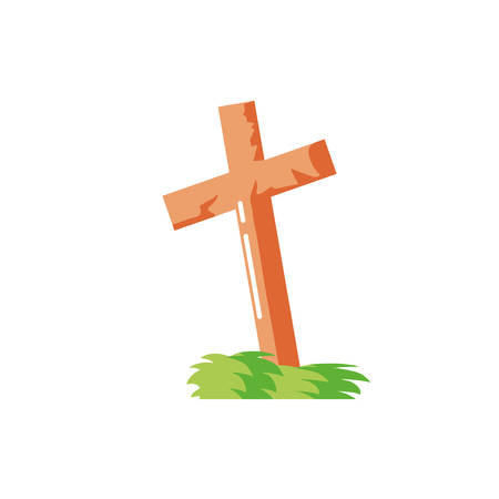christian cross on white background vector illustration design 일러스트