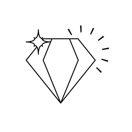 diamond luxury rock isolated icon vector illustration design Illustration