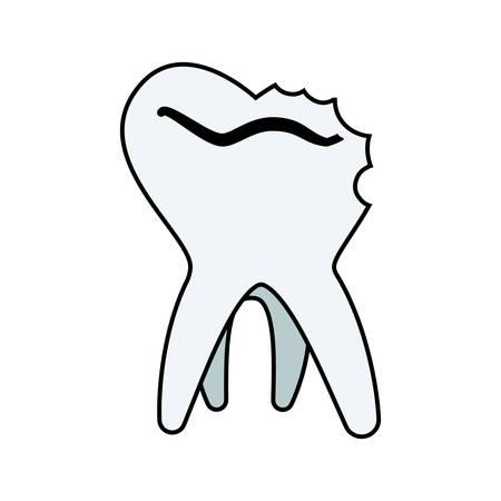 tooth human broken icon vector illustration design