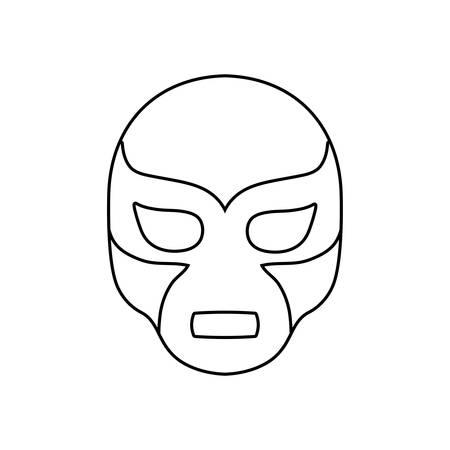 mexican wrestler mask, wrestling on white background vector illustration design