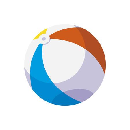 beach plastic balloon toy icon vector illustration design