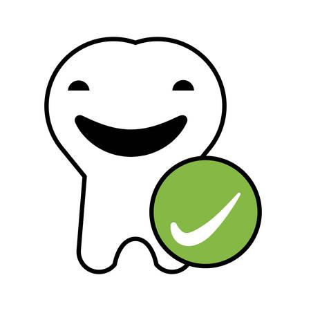 tooth human   character vector illustration design Stockfoto - 134750530