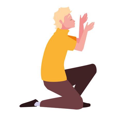 Avatar de un diseño de hombre, niño persona de sexo masculino personas redes sociales humanas y tema de retrato ilustración vectorial