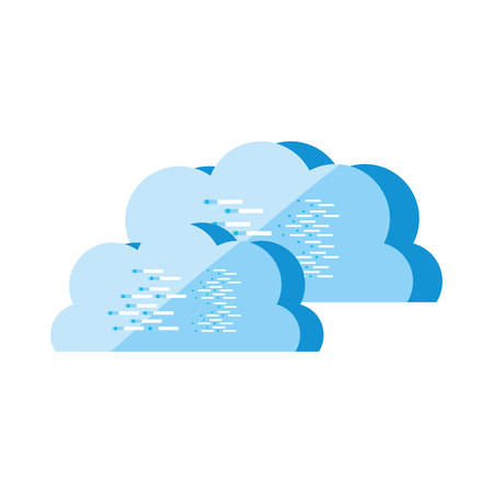 cloud computing technology isolated icon vector illustration design