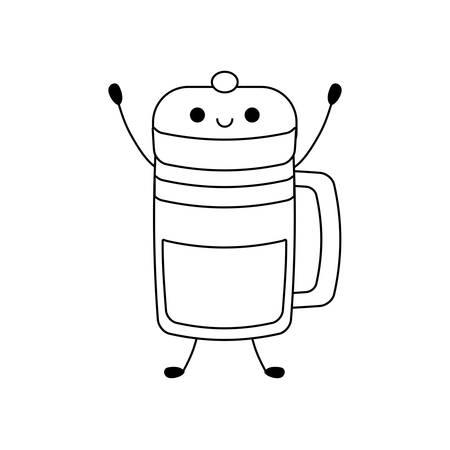 cup of beverage  vector illustration design