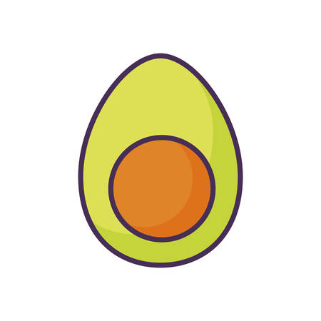 fresh avocado healthy on white background vector illustration design 일러스트