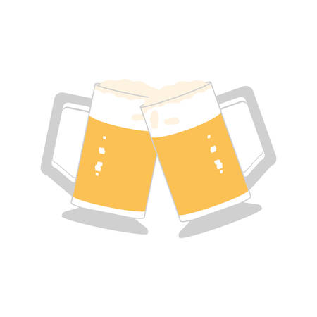 jar of beer oktoberfest festival icon vector illustration design Çizim