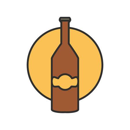 bottle beer oktoberfest festival icon vector illustration design 向量圖像