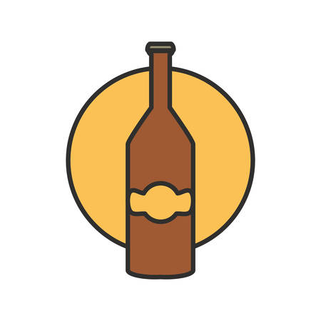 bottle beer oktoberfest festival icon vector illustration design Ilustracja