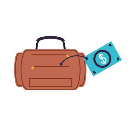 travel suitcase equipment isolated icon vector illustration design