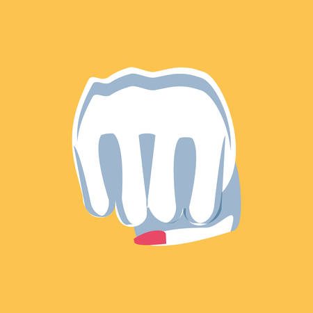 hand fist power female isolated icon vector illustration design
