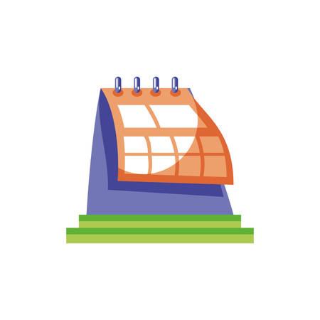 calendar reminder on white background vector illustration desing