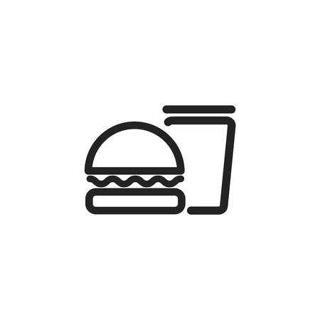 hamburger and glass icon design, Eat food restaurant menu dinner lunch cooking and meal theme Vector illustration