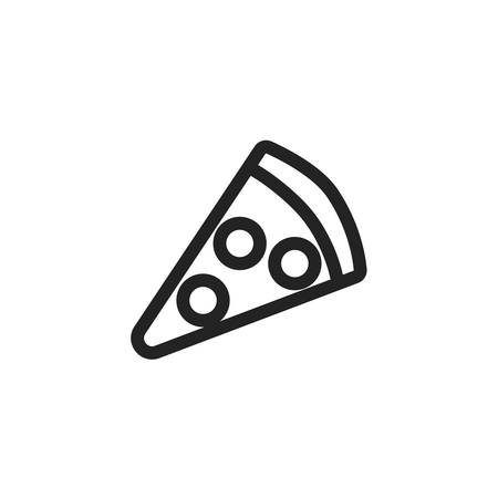 pizza icon design, Eat food restaurant menu dinner lunch cooking and meal theme Vector illustration