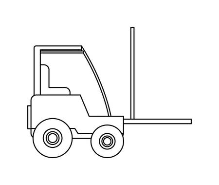 under construction forklift vehicle vector illustration design