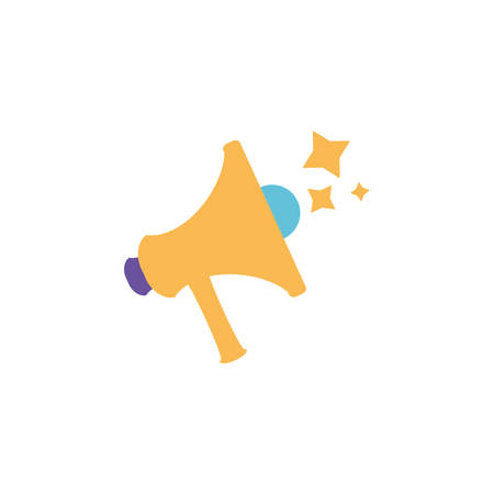 cute megaphone with white background vector illustration design