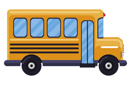 bus school isolated icon vector illustration design
