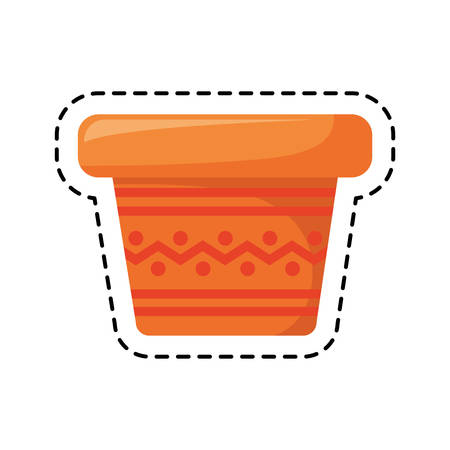 patch of pot plant decoration isolated icon vector illustration design Stock Illustratie