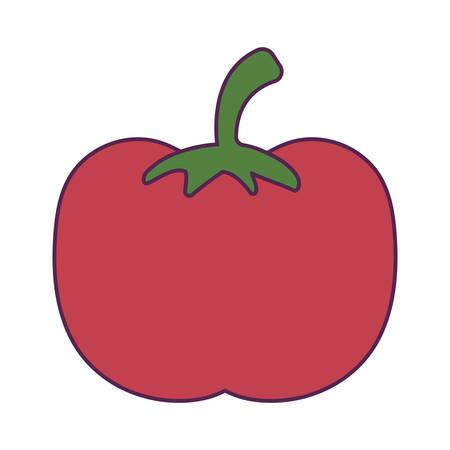 red tomato fresh isolated icon vector illustration design