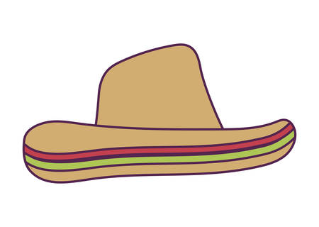 hat mexican traditional isolated icon vector illustration design Ilustração