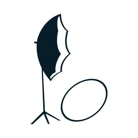 Umbrella icon design, Device gadget technology photography equipment digital and photo theme Vector illustration
