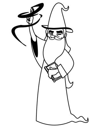 witch and wizard of tales characters vector illustration design Foto de archivo - 134755013