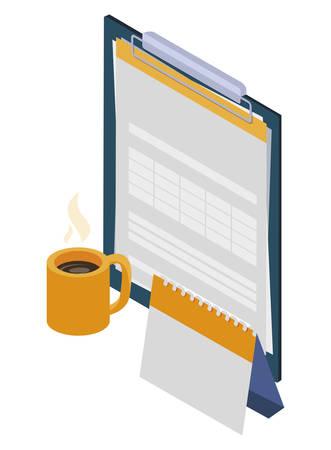 checklist clipboard with calendar vector illustration design
