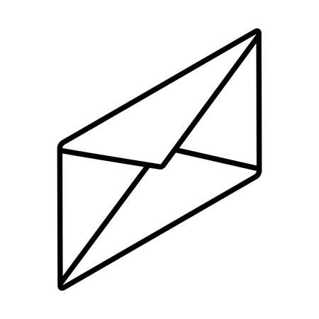 envelope closed in white background vector illustration design Archivio Fotografico - 134755552