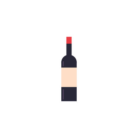 Wine bottle icon design, Drink beverage liquid menu restaurant store and shop theme Vector illustration Foto de archivo - 134765010