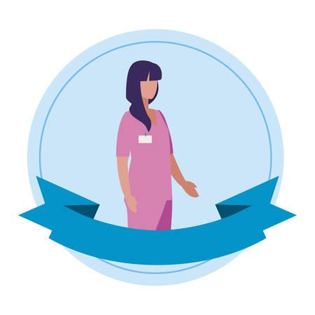 beautiful stylist worker character vector illustration design Иллюстрация