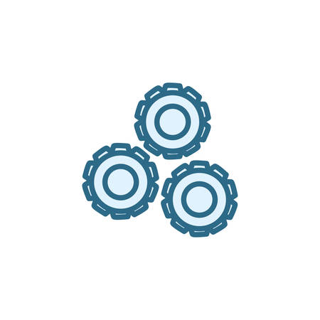 Gears icons design, Cog circle wheel machine part technology industry and technical theme Vector illustration Illusztráció