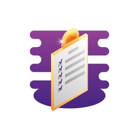 clipboard checklist document icon vector illustration design Ilustração
