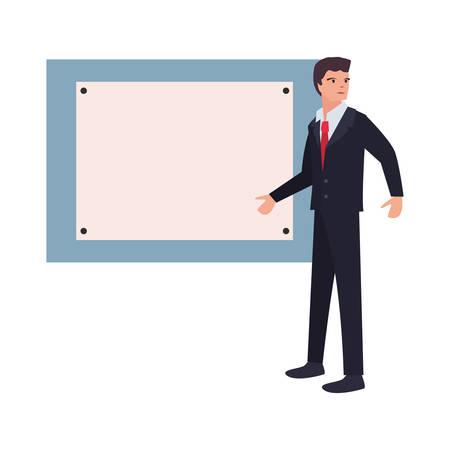 businessman board labour day vector illustration design