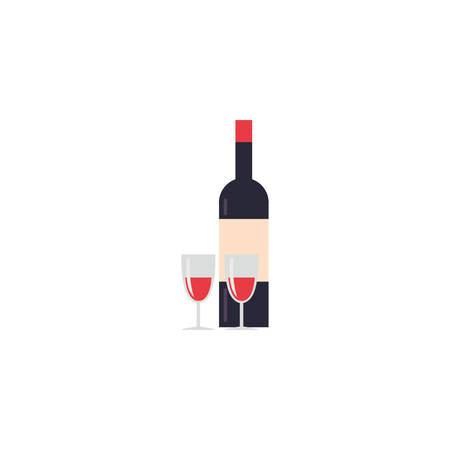 Wine bottle icon design, Drink beverage liquid menu restaurant store and shop theme Vector illustration Foto de archivo - 134798989