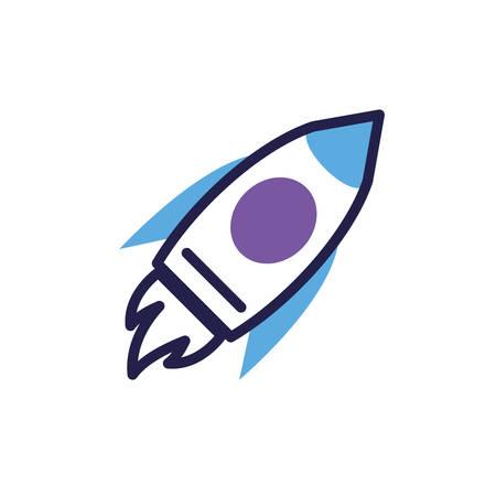 flying rocket in white background vector illustration design 일러스트
