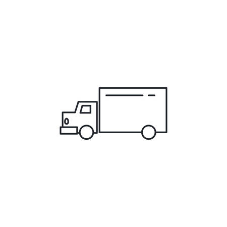 truck design, Delivery shipping logistics transportation distribution and merchandise theme Vector illustration
