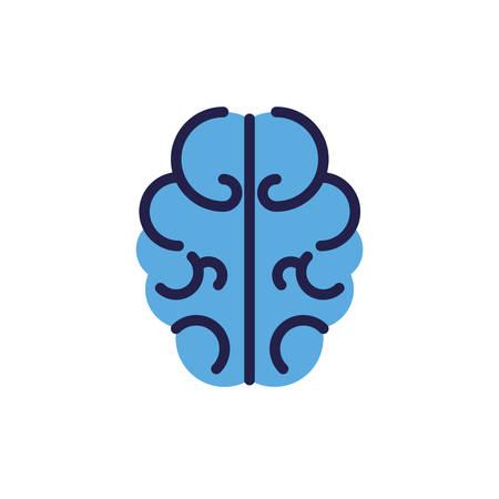 outline of human brain on white background vector illustration design 写真素材 - 134807890