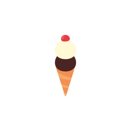 Sweet ice cream icon design, dessert food delicious sugar snack and tasty theme Vector illustration