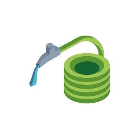 hose with faucet on white background vector illustration design Standard-Bild - 134810963
