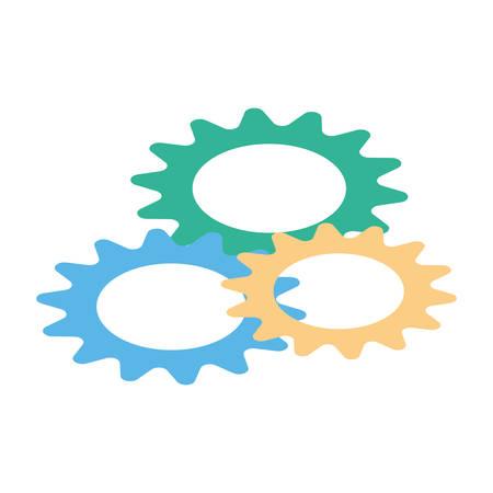 gearwheel tool in white background vector illustration design