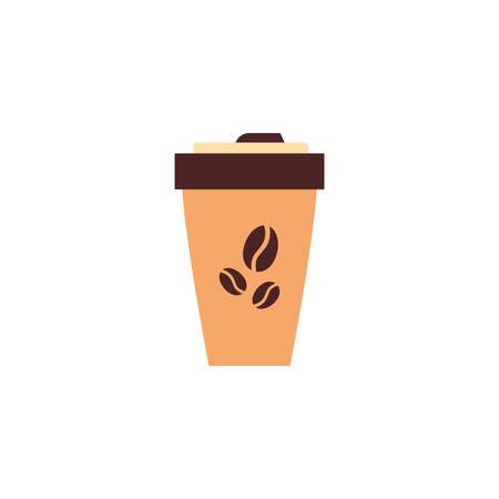 coffee mug icon design, Drink beverage liquid menu restaurant store and shop theme Vector illustration