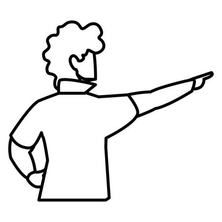 adventurous man avatar character vector illustration design  イラスト・ベクター素材
