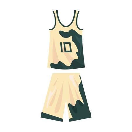 basketball uniform sport jersey shorts vector illustration Imagens - 134837248