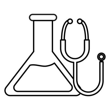 medical tube test with vector illustration design Illustration