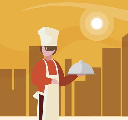 chef worker avatar character vector illustration design Illustration