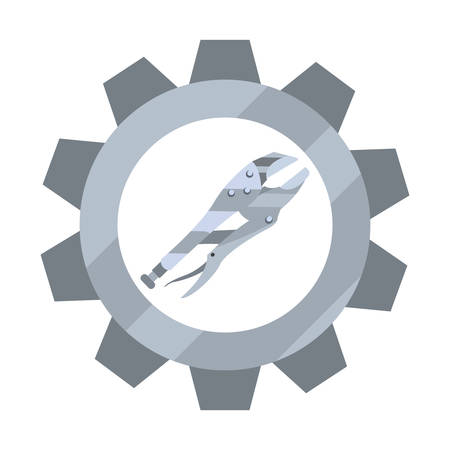 adjustable spanner tool gear vector illustration design Foto de archivo - 134856007