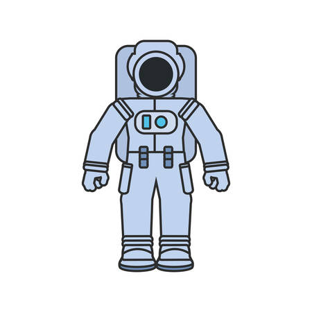astronaut suit isolated icon vector illustration design