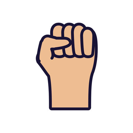 hand fist isolated icon vector illustration design